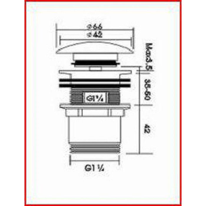 2 x Design Waschbecken Ablauf Klick Verschluss PopUp