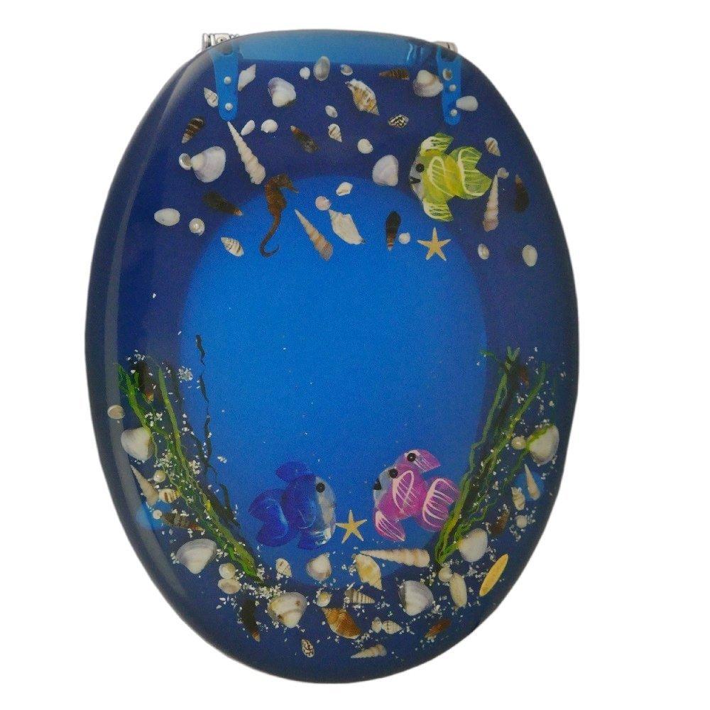 wc sitz toilettendeckel wc deckel toiletten sitz blau klositz klobrille meer ebay. Black Bedroom Furniture Sets. Home Design Ideas