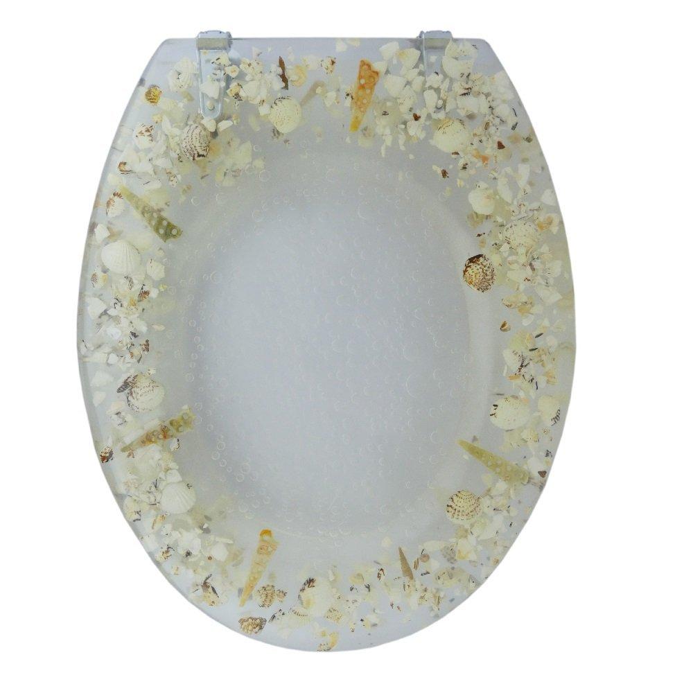 wc sitz toilettendeckel deckel toiletten sitz 3d klositz klobrille echte muschel ebay. Black Bedroom Furniture Sets. Home Design Ideas
