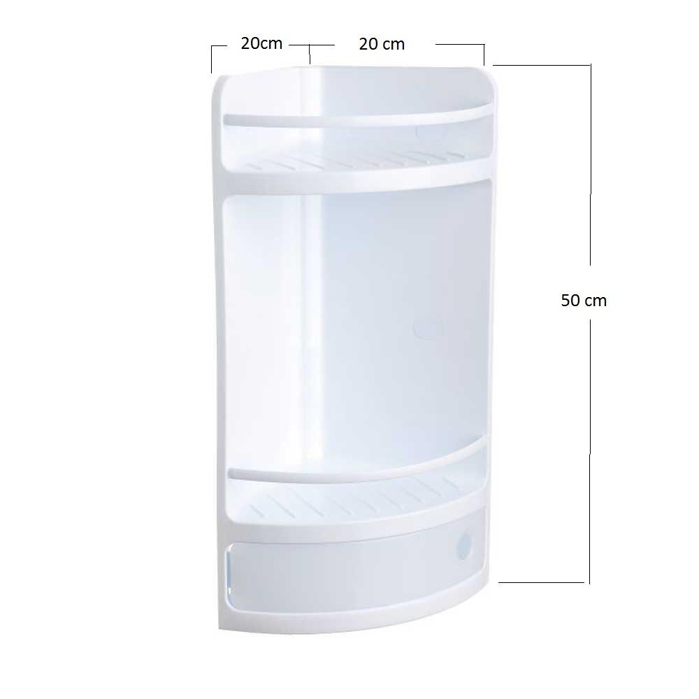 eckregal bathroom shelf white plastic without drill. Black Bedroom Furniture Sets. Home Design Ideas
