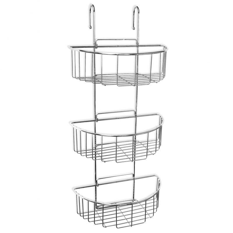 duschregal zum einh ngen an armatur oder duschwand duschablage metall duschkorb ebay. Black Bedroom Furniture Sets. Home Design Ideas