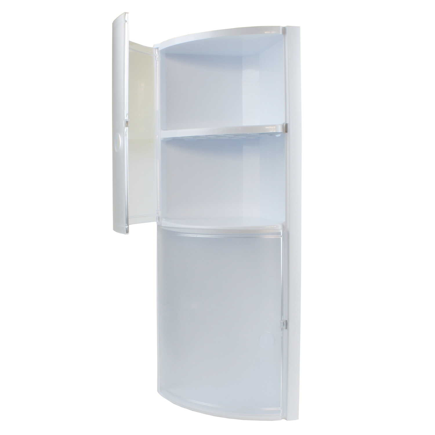 armoire d 39 angle tag re de salle bain plastique blanc sans. Black Bedroom Furniture Sets. Home Design Ideas