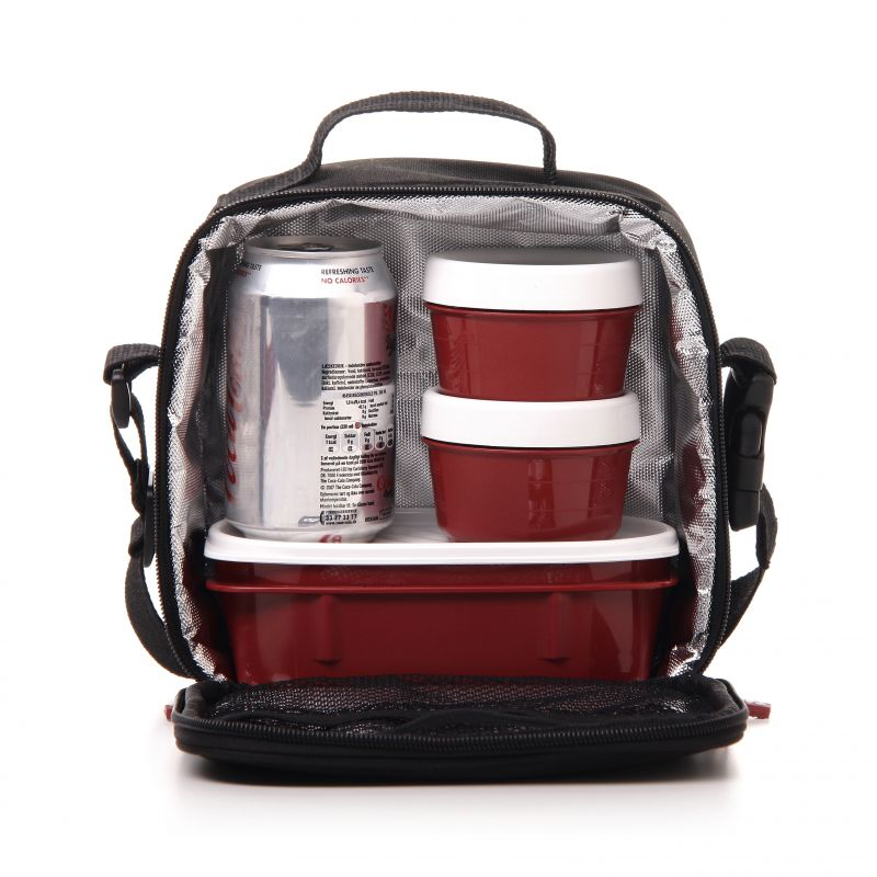 lunchbox thermo k hltasche lebensmittel babynahrung k hlung bordeaux rot medizin ebay. Black Bedroom Furniture Sets. Home Design Ideas