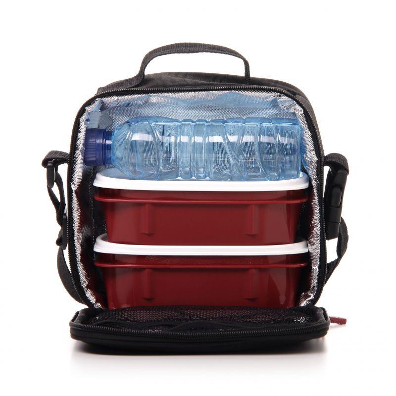 lunchbox thermo k hltasche lebensmittel babynahrung k hlung blau mit punkten ebay. Black Bedroom Furniture Sets. Home Design Ideas