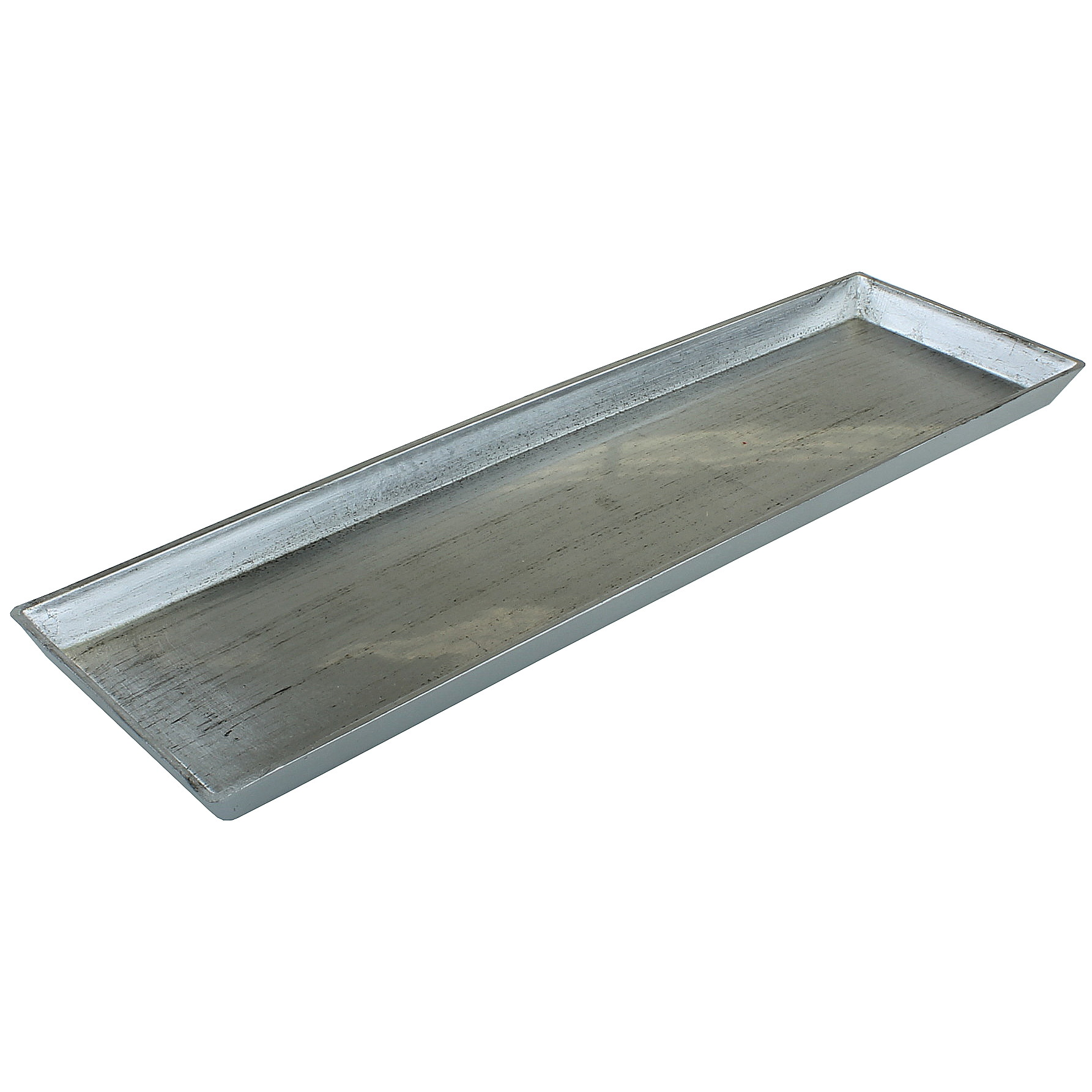 Deko Tablett Eckig Alt Silber Kerzenteller Platzteller Tisch Deko
